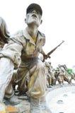 Estatuas en el museo del monumento de Guerra de Corea, Seul Fotos de archivo