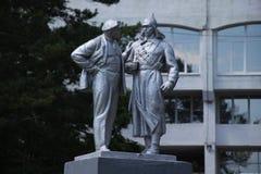 Estatuas en el parque imagenes de archivo