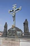 Estatuas en el puente de Charles Foto de archivo libre de regalías