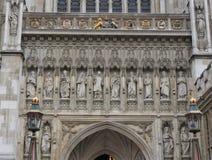 Estatuas en la abadía de Westminster Imagenes de archivo