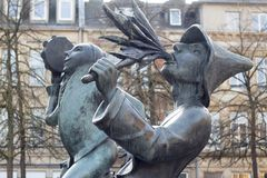 Estatuas en Luxemburgo Imagenes de archivo