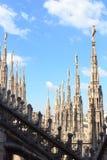 Estatuas en Milan Cathedral Foto de archivo