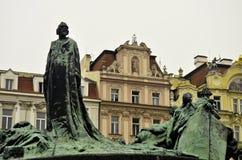 Estatuas en Praga Foto de archivo