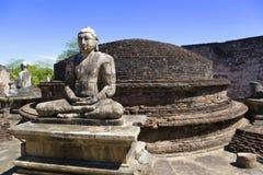 Estatuas en Vatadage, Sri Lanka de Buddha imagenes de archivo