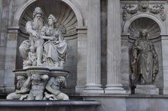 Estatuas en Viena Fotos de archivo libres de regalías