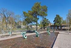 Estatuas famosas en la entrada en Millesgarden del escultor C Imagenes de archivo