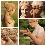 Estatuas femeninas fotografía de archivo