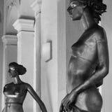 Estatuas femeninas Imagen de archivo libre de regalías