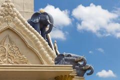 Estatuas grandes del elefante Fotografía de archivo libre de regalías