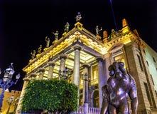 Estatuas Guanajuato México del teatro de Juarez foto de archivo libre de regalías