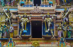 Estatuas hindúes en Sri Lanka imágenes de archivo libres de regalías