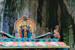 Estatuas indias de la deidad en las cuevas de Batu, Malasia Imágenes de archivo libres de regalías