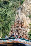 Estatuas indias de la deidad en las cuevas de Batu, Malasia Foto de archivo libre de regalías