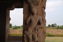 Estatuas las columnas de adornamiento Fotografía de archivo