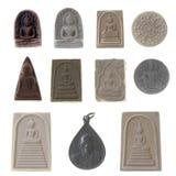 Estatuas negras de la deidad de la religión china. Fotografía de archivo libre de regalías