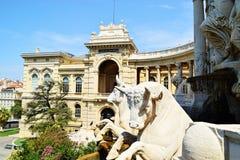 Estatuas Palais Longchamp de Bull fotos de archivo libres de regalías