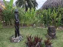 Estatuas polinesias francesas fotos de archivo libres de regalías