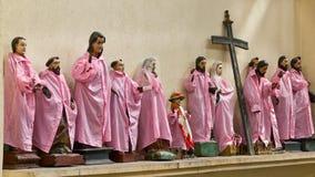 Estatuas santas - estacionadas Imágenes de archivo libres de regalías