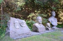 Estatuas soviéticas en el parque de Grutas imagen de archivo libre de regalías