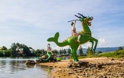 Estatuas tailandesas del carácter del cuento imágenes de archivo libres de regalías