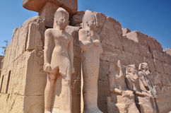 estatuas Templo de Karnak Lyuksor Egipet Imagenes de archivo