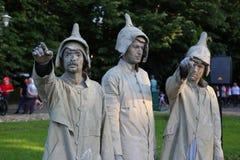 Estatuas vivas fotografía de archivo libre de regalías