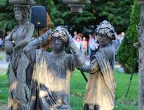 Estatuas vivas imagen de archivo libre de regalías
