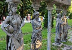 Estatuas vivas fotografía de archivo