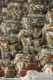 Estatuas Wat Arun del guarda del demonio en Bangkok Foto de archivo