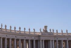 Estatuas y columnas en St Peters Square Foto de archivo libre de regalías