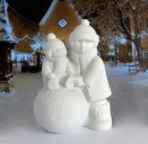 Estatueta da porcelana do Natal fotografia de stock