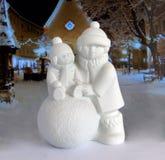 Estatueta da porcelana do Natal fotos de stock