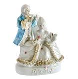 Estatueta da porcelana o duo musical fotografia de stock