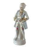 Estatueta da porcelana o poeta novo imagens de stock royalty free