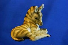 A estatueta da zebra é um animal africano do mamífero imagem de stock
