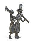 Estatueta de Krishna e de Radha da epopeia indiana Imagens de Stock