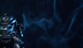 Estatueta do filme de LEGO Predator imagens de stock