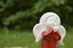 Estatueta, estatueta: anjo bonito Fotografia de Stock
