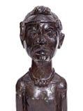 Estatueta tradicional africana do busto do homem Fotografia de Stock