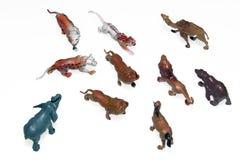 Estatuetas animais fotografia de stock