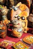 Estatuetas da argila de gatos engraçados Foto de Stock Royalty Free