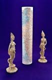 Estatuetas de mulheres indianas com serpentes Foto de Stock Royalty Free