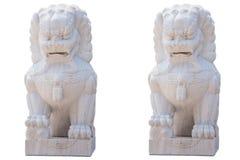 Estatuetas do leão Foto de Stock