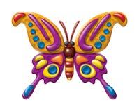 Estatuetas do plasticine da ilustração da borboleta Imagem de Stock Royalty Free