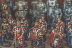 Estatuetas dos cavaleiros Fotos de Stock Royalty Free