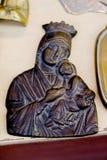 Estatuetas religiosas do metal foto de stock