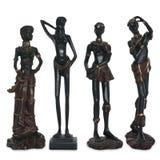 Estatuetas velhas de mulheres africanas Foto de Stock Royalty Free