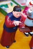 Estatuilla china de la arcilla Foto de archivo libre de regalías
