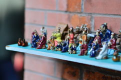Estatuilla china de la arcilla Imagen de archivo libre de regalías