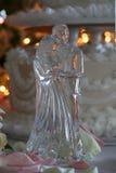 Estatuilla cristalina de la boda Fotos de archivo